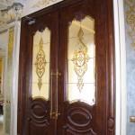 شیشه استیندگلس درب لابی لوکس نمای 3