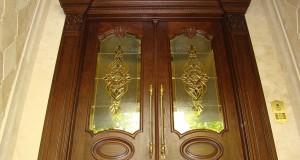 شیشه استیندگلس درب لابی لوکس نمای 8