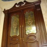 شیشه استیندگلس درب لابی لوکس نمای 9