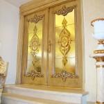 شیشه تزیینی استیند گلس یا تیفانی برای درب سالن پذیرایی نمای 4