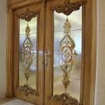 شیشه تزئینی استیند گلس یا تیفانی برای درب سالن پذیرایی نمای 6