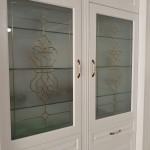 شیشه تزیینی و دکوراتیو درب کابینت ممبران (نمای 3)