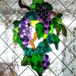 شیشه تیفانی درب کابینت کلاسیک (نمای2)