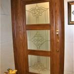 شیشه تزئینی و دکوراتیو کلاسیک با فلز طلایی برای درب چوبی شیشه خور (نمای 7)