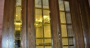شیشه استیندگلس درب لابی نمای 5