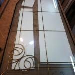 شیشه تزیینی فلز کاری شده سبک جورجین بار نمای 5