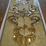 شیشه تیفانی یا استیند گلس درب کابینت کلاسیک (نمای 7)