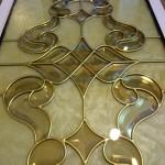 شیشه تیفانی یا استیند گلس درب کابینت کلاسیک (نمای 10)