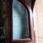 شیشه تزیینی فلز کاری شده سبک جورجین بار نمای 4
