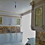 شیشه تیفانی یا استیند گلس درب کابینت کلاسیک (نمای 14)