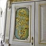 شیشه تیفانی یا استیند گلس درب کابینت کلاسیک (نمای 15)