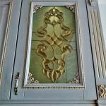 شیشه تیفانی یا استیند گلس درب کابینت کلاسیک (نمای 11)