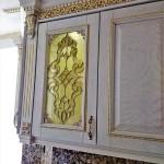 شیشه تیفانی یا استیند گلس درب کابینت کلاسیک (نمای 17)