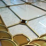 مراحل ساخت و معرق کاری شیشه استیند گلس نمای 8