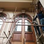 شیشه تزیینی فلز کاری شده سبک جورجین بار نمای 9
