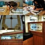 مراحل ساخت و نصب شیشه تزیینی معرق برای پارتیشن چوبی